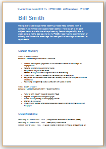 teaching cv template download
